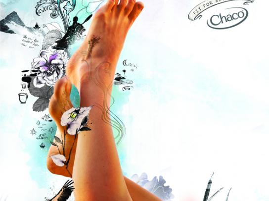 Chaco Print Ad -  Women's kayak