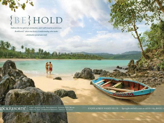 RockResorts Print Ad -  {Be} Hold