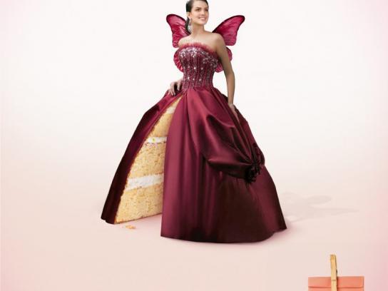 Clucky Cake Print Ad -  Fairy