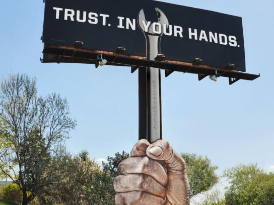 Craftsman Tools Outdoor Ad -  Wrench billboard