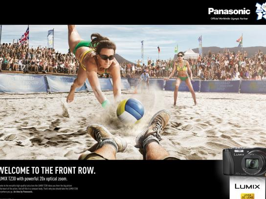 Panasonic Print Ad -  Front row, Volleyball