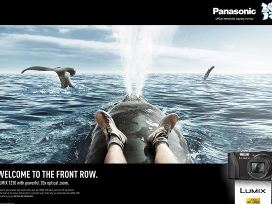 Panasonic Print Ad -  Front row, Whale