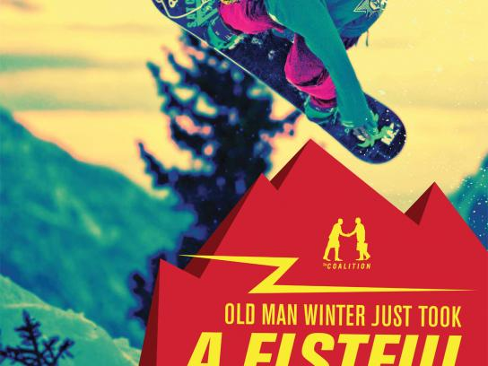 Coalition Outdoor Ad -  Old man winter