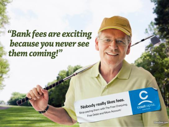 Coast Capital Savings Print Ad -  Golfer