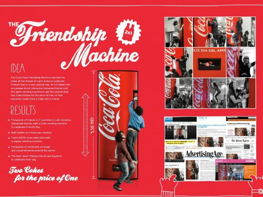Coca-Cola Ambient Ad -  The Friendship Machine