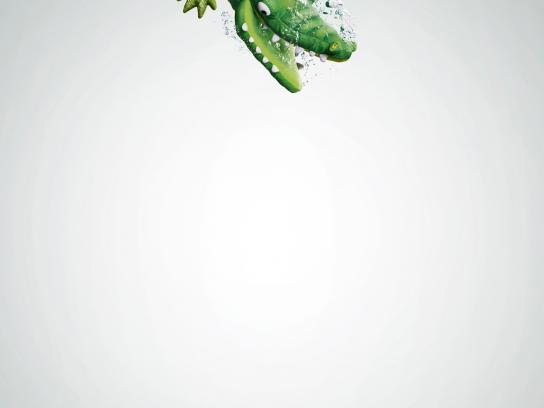 Lenor Print Ad -  Crocodile