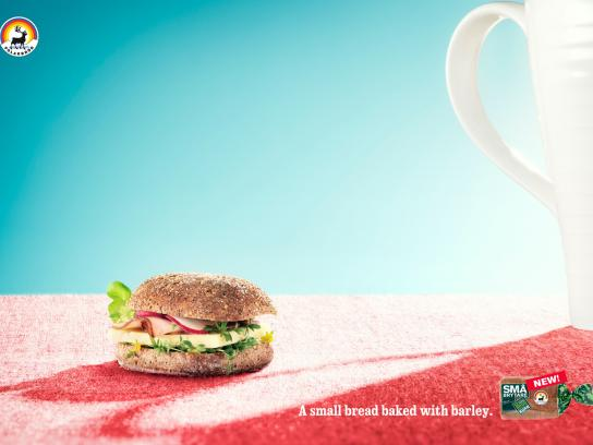 Små brytare Print Ad -  A small bread, Coffee cup