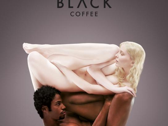 Coffee Inn Print Ad -  White & Black