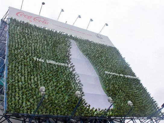 Coca-Cola Outdoor Ad -  Plant Billboard