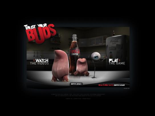 Coca-Cola Zero Digital Ad -  Trust your buds