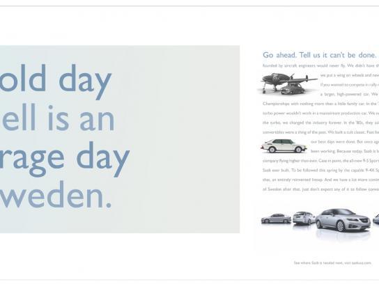 SAAB Print Ad -  Cold day