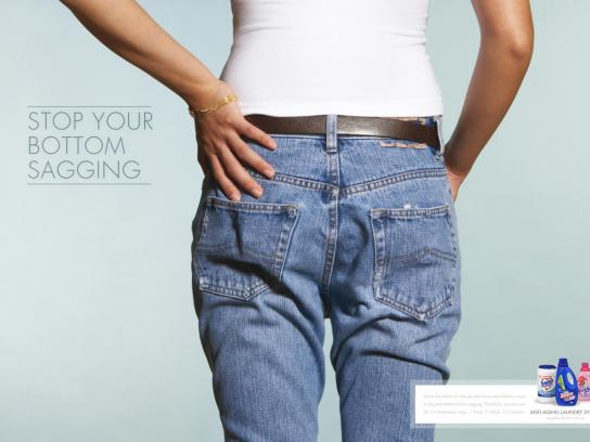Colgate Palmolive Print Ad -  Stop your bottom sagging