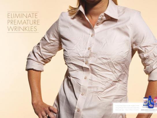 Colgate Palmolive Print Ad -  Eliminate premature wrinkles