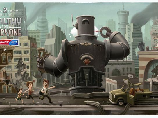 Colgate Print Ad -  Robot