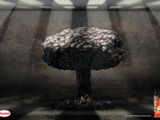 Combat Print Ad -  Mushroom effect