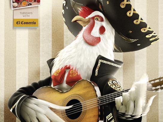 El Comercio Print Ad -  Chicken