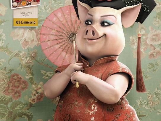 El Comercio Print Ad -  Pig