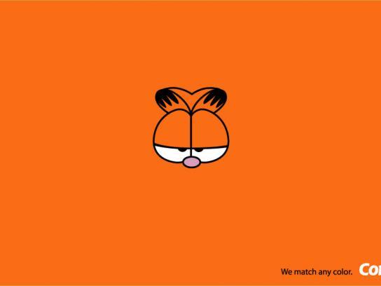 Comex Print Ad -  Garfield orange
