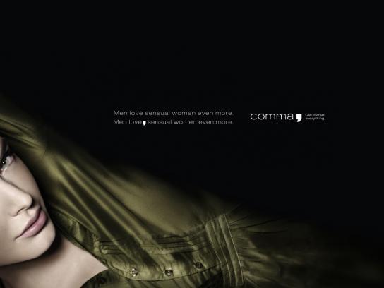 comma Print Ad -  Sensual