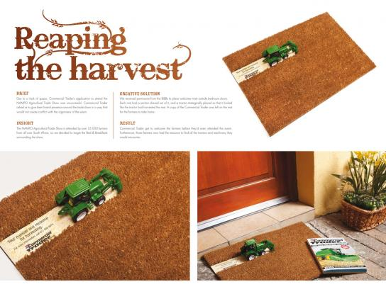 Commercial Trader Direct Ad -  Harvested mat