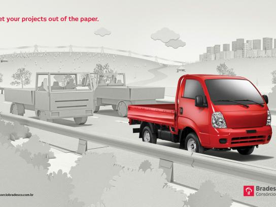 Bradesco Print Ad -  Truck