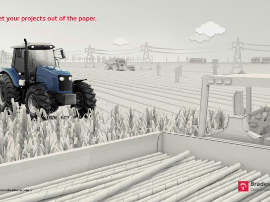 Bradesco Print Ad -  Tractor