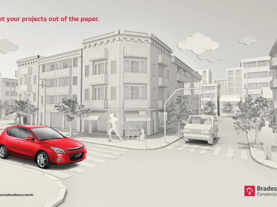 Bradesco Print Ad -  Car