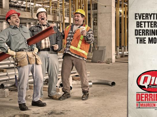 Q107 Outdoor Ad -  Construction