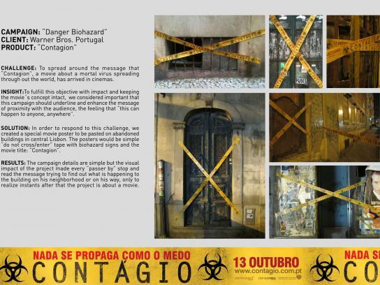 Contagion Outdoor Ad -  Danger Biohazard