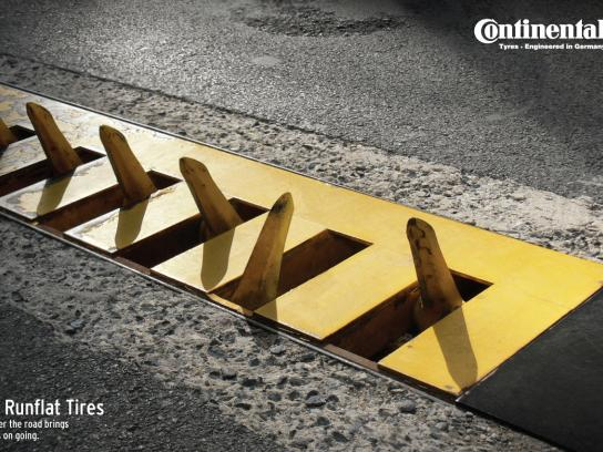 Continental Print Ad -  Whatever the road brings