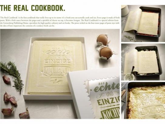 Gerstenberg Verlag Direct Ad -  The Real Cookbook