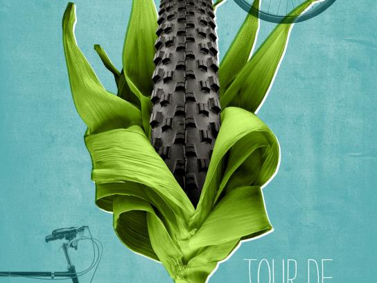 Braise Local Food Print Ad -  Tour de Farms, Corn tire