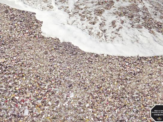 Corona Beer Print Ad -  Beach Dump