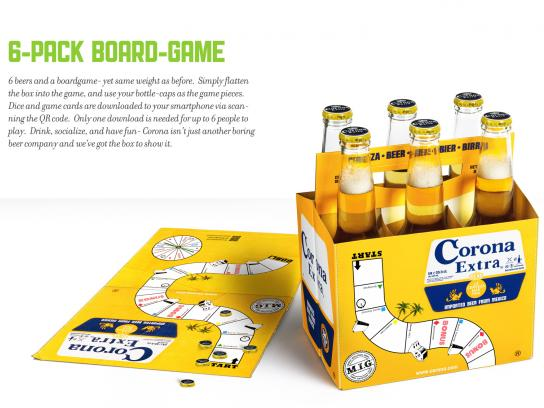 Corona Beer Direct Ad -  6-Pack Boardgame