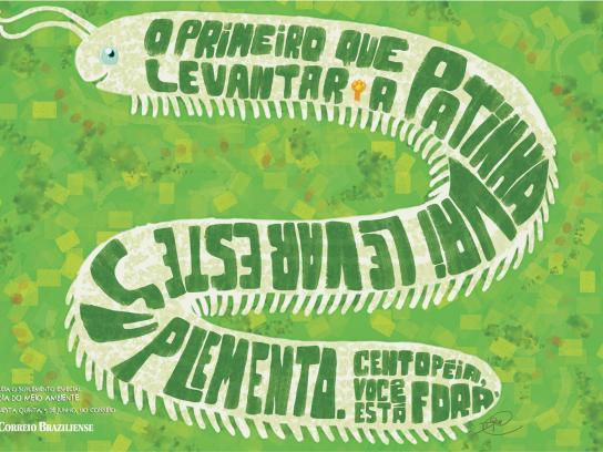 Correio Braziliense Print Ad -  Centipede