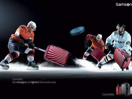 Samsonite Print Ad -  Hockey