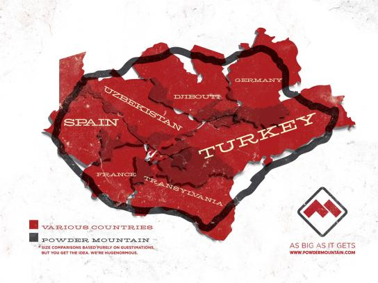 Powder Mountain Print Ad -  Countries