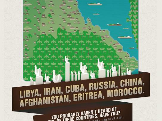 Reporters Without Borders Print Ad -  Countries