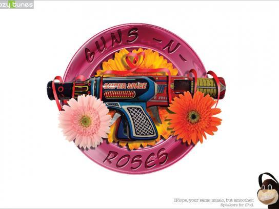 Cozy Tunes Print Ad -  Guns