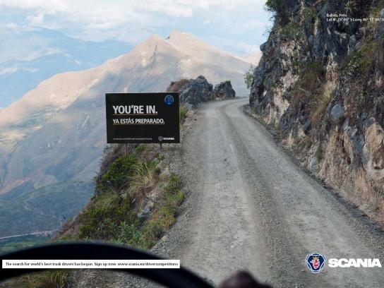 Scania Print Ad -  Skilled truck driver, Peru