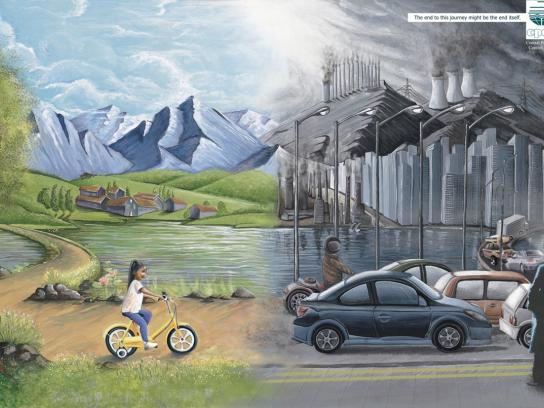 Central Pollution Control Board Print Ad -  Bicycle