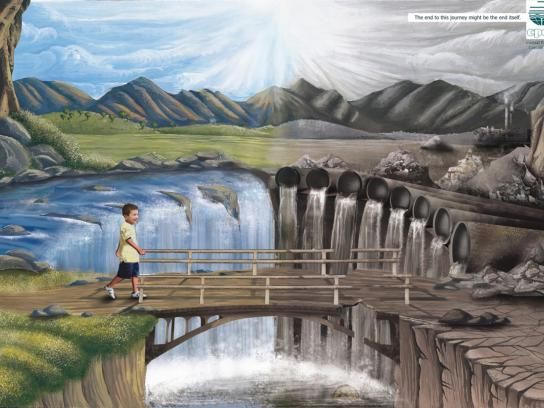 Central Pollution Control Board Print Ad -  Waterfall