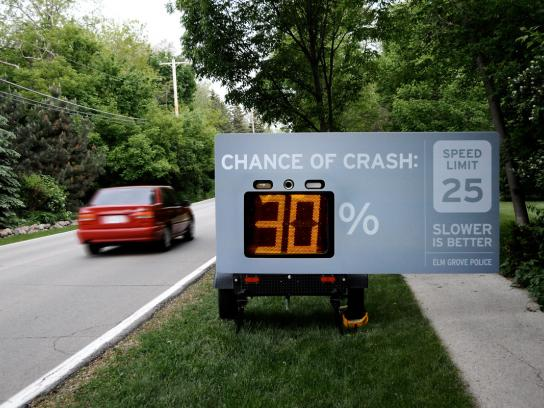Elm Grove Police Departmen Ambient Ad -  Slower is better, 2