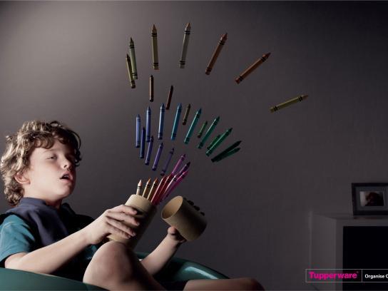 Tupperware Print Ad -  Crayons