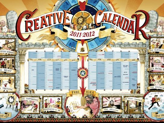 Leo Burnett Print Ad -  Creative calendar