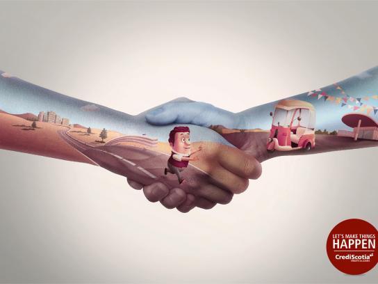 CrediScotia Print Ad -  Hands, 1