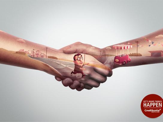 CrediScotia Print Ad -  Hands, 2