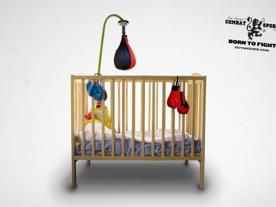 Guy Mezger Combat Sports Club Print Ad -  Crib