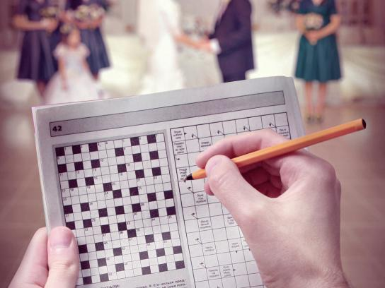 Las Vegas Wedding Agency Print Ad -  Crossword