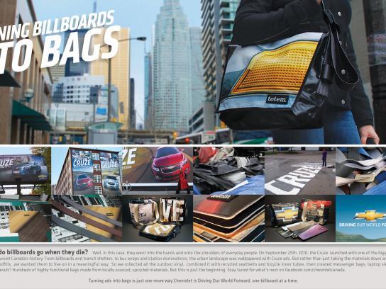 Chevrolet Outdoor Ad -  Billboards Into Bags